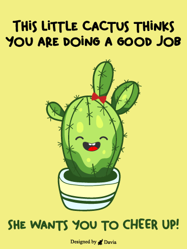Happy Cactus  – Cheer Up Cards