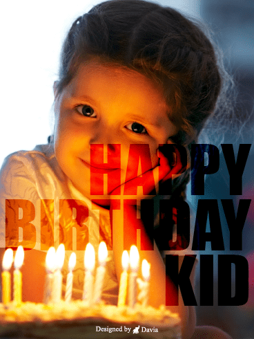 Smile  – Happy Birthday Kids Cards