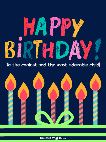 Coolest Candles  – Happy Birthday Kids Cards