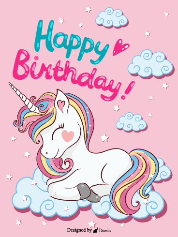 Rainbow Pony  – Happy Birthday Kids Cards