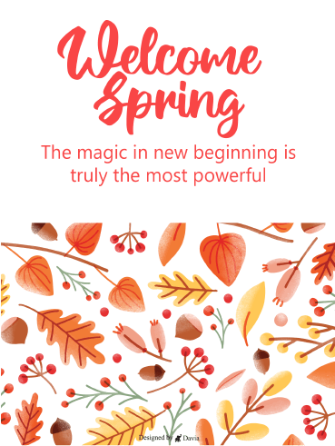 New Beginnings  – Spring Day