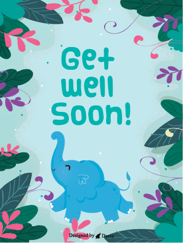 Happy Elephant – Get Well Soon Newly Added Cards