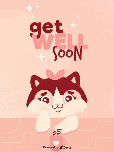 Coffee & Pink – Get Well Soon Newly Added Cards