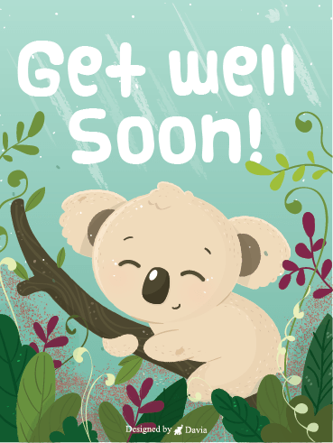 Smiling Koala – Get Well Soon Newly Added Cards