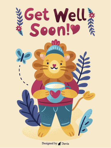 Lion & Cup – Get Well Soon Newly Added Cards