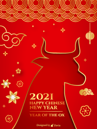 The Year Of The Ox  – Happy Chinese New Year Cards