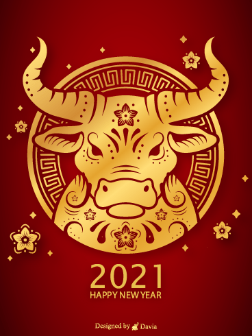Powerful Ox  – Happy Chinese New Year Cards