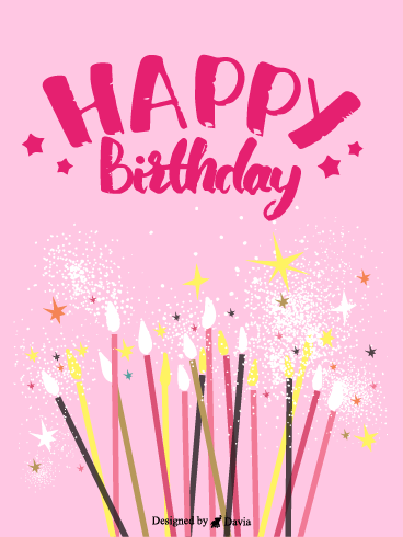 Shimmer  – Happy Birthday for Her Cards