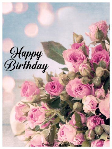Bouquet  – Happy Birthday for Her Cards