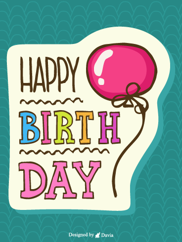 Cheerful  – Happy Birthday for Her Cards