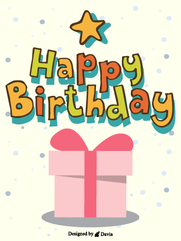 Presents and Stars  – Happy Birthday for Her Cards