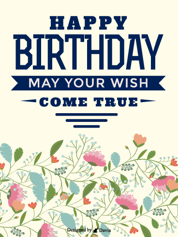 Flowers For Her  – Happy Birthday for Her Cards