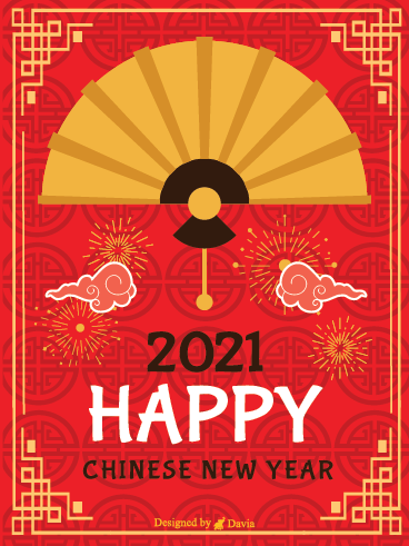 Red and Gold - Chinese New Year Cards