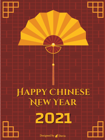 Folding Fan - Chinese New Year Cards