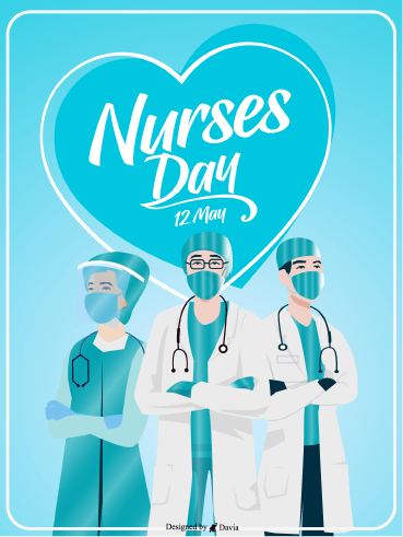 In PPE - Nurses Day