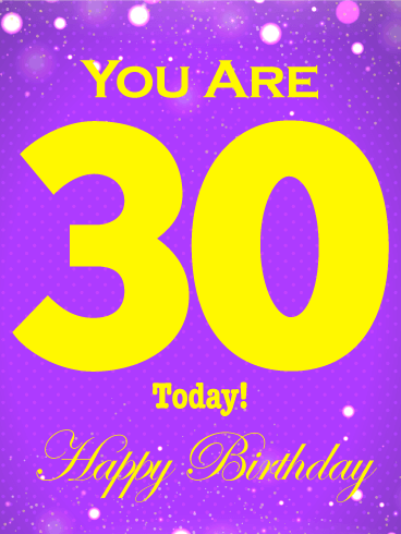 Milestone Birthday Cards Birthday Greeting Cards By Davia Happy Birthday 30th Wishes