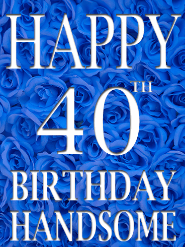 Blue Rose Happy 40th Birthday Card