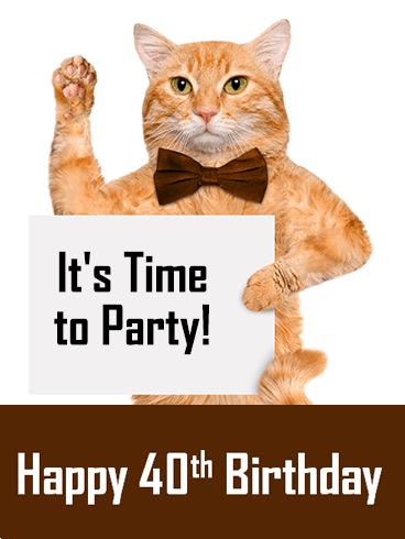 Funny Happy 40th Birthday Party Card