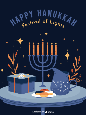 Bright Hanukkah – Happy Hanukkah Cards