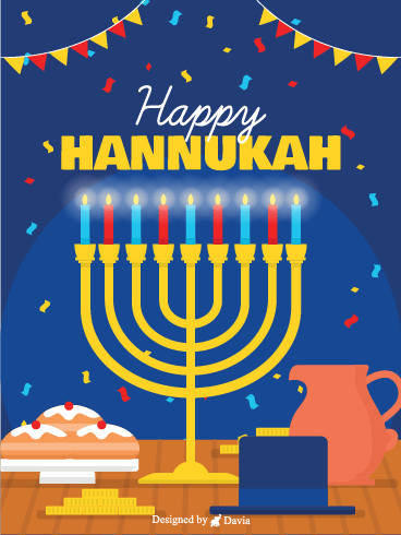Festive Hanukkah – Happy Hanukkah Cards