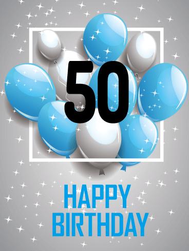 Omg Happy 50th Birthday Card Birthday Greeting Cards By Davia