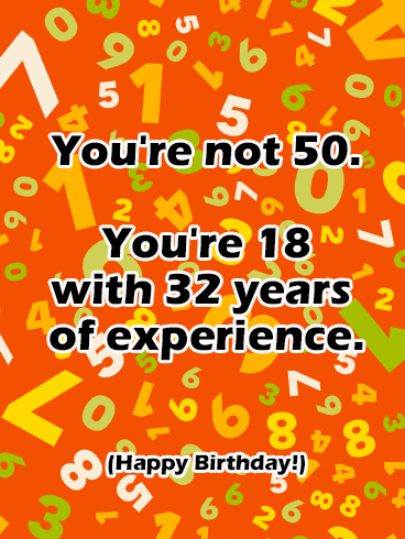 funny happy 50th birthday card birthday greeting cards by davia
