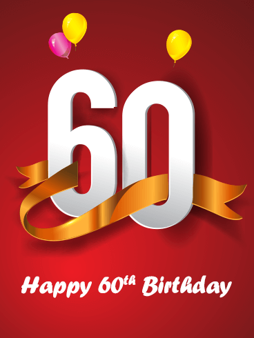 Happy 60th Birthday Card for Her