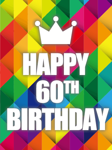 Colorful Happy 60th Birthday Card