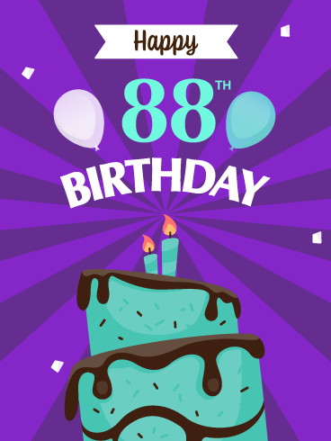 Time to Celebrate! Happy 88th Birthday Card