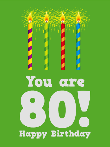 Happy 80th Birthday Cards