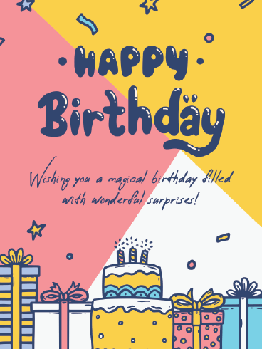 More Presents More Fun! – Happy Birthday Card