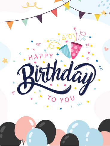 Pop The Balloons – Happy Birthday Card