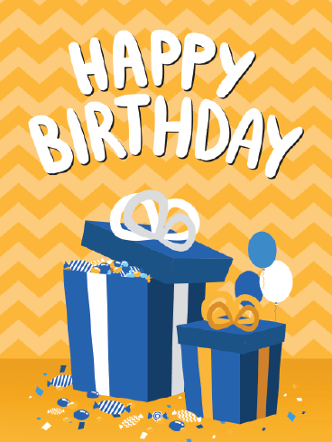 What's In The Box? – Happy Birthday Card