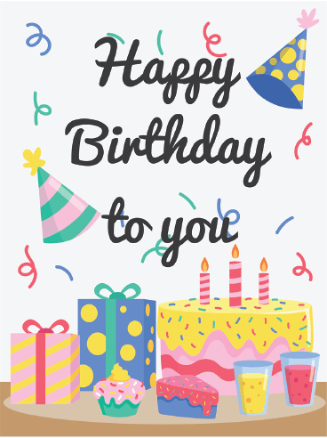 It's Party Time! – Happy Birthday Card