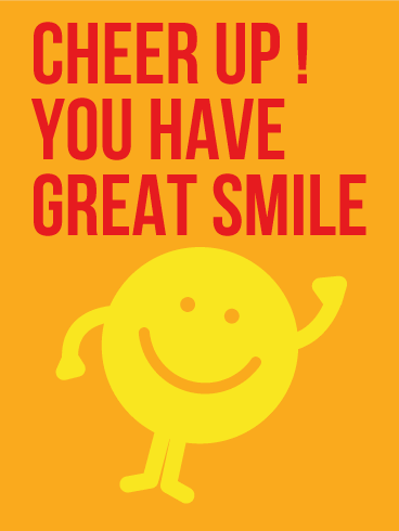 Cheering Up! Smiley Face Card
