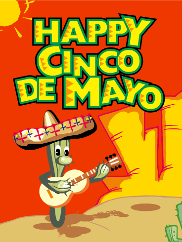 Cinco de Mayo Mexican Cactus Card