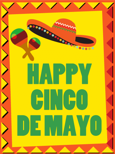 Cinco de Mayo Mexican Hat Card