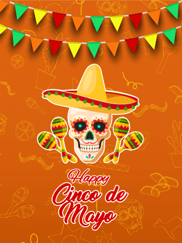 Calavera Cinco de Mayo Card