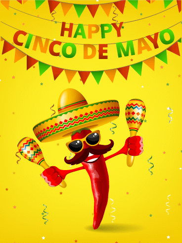 Dancing Red Pepper Cinco de Mayo Card