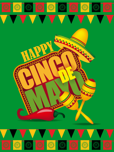 Festive Green Cinco de Mayo Card