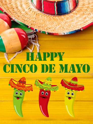 Three Peppers Cinco de Mayo Card