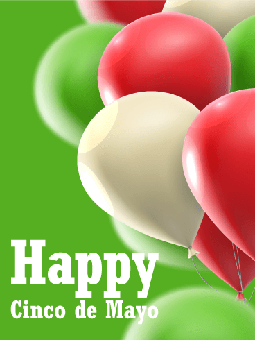 Vibrant Color Balloon Cinco de Mayo Card