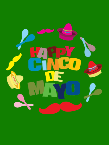 Colorful Cinco de Mayo Card