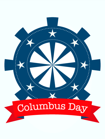 Adventure! Columbus Day Card