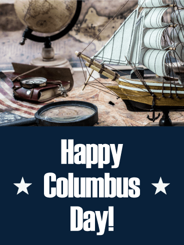 Let's Go to Journey! Columbus Day Card