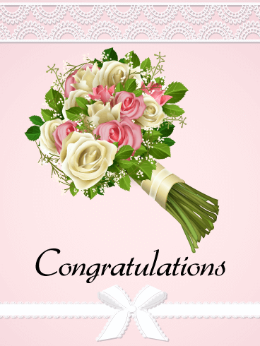 Rose Bouquet Congratulations Card