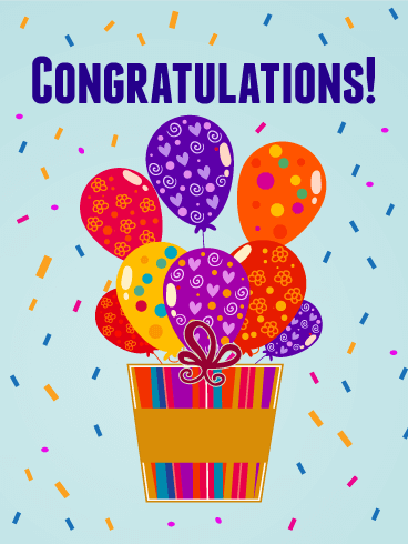 Happy Balloons Congratulations Card