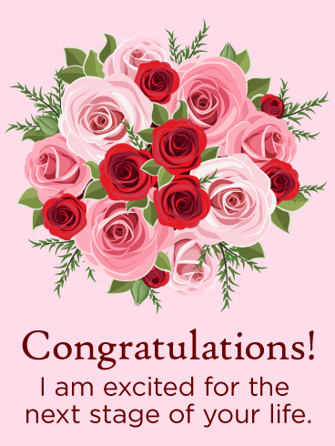 Rose Congratulations Card