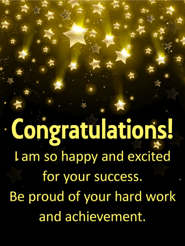 Shooting Stars Congratulations Card