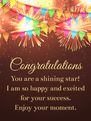 You are a Shining Star! Congratulations Card